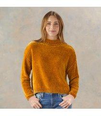 chenille mock sweater