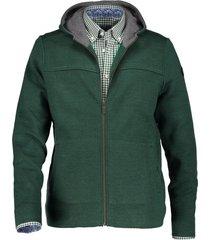 state of art vest groen met rits en capuchon