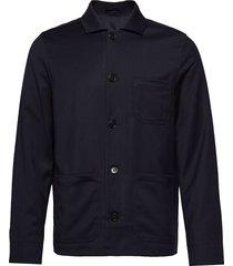 m. louis gabardine jacket overshirts blauw filippa k