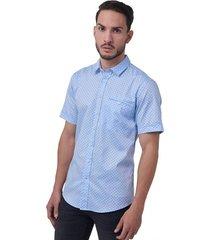 camisa casual estampada slim fit 93453