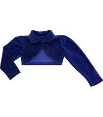 bolero infantil libelinha em plush azul