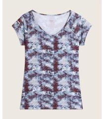 camiseta cuello en v  con estampado
