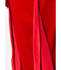 a.n.g.e.l.o. vintage cult long strapless dress - red