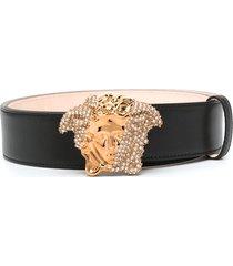 versace palazzo dia crystal belt - black