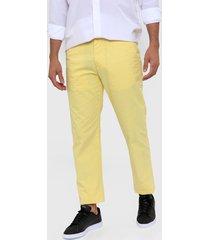 pantalón  amarillo tommy hilfiger custom fit chino pant
