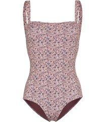 matteau liberty printed swimsuit - berry
