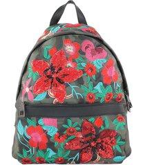 mochila militar flor verde mailea