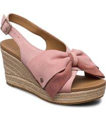 w ysidra sandalette med klack espadrilles rosa ugg