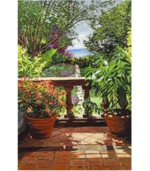 """david lloyd glover view from the royal gardens canvas art - 37"""" x 49"""""""