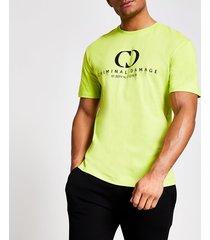 mens criminal damage green oversized t-shirt