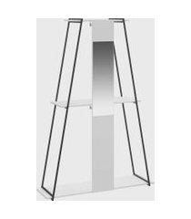 estante roupeiro c/ espelho branco tx be mobiliário