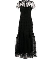 redvalentino full-length tulle dress - black