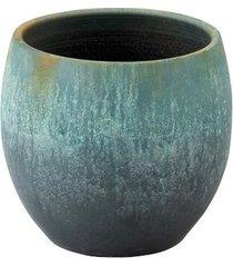 donica osłonka azur zielona 37x34cm ceramiczna