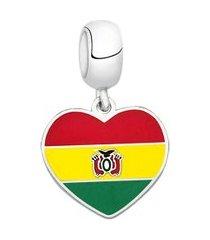 berloque bandeira da bolívia de prata moments