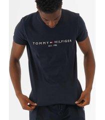 tommy hilfiger logo t-shirt - sky captain mw0mw11465