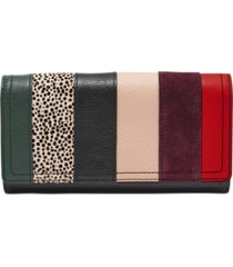 fossil logan leather flap clutch