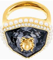 anello cocktail magnetic, multicolore, placcato oro
