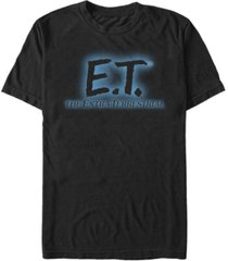 e.t. the extra-terrestrial men's glowing logo short sleeve t-shirt