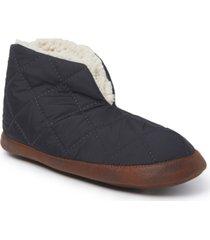 dearfoams women's original quilted nylon warm-up bootie slipper, online only