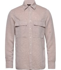 haidar reg shirt wash overhemd casual beige oscar jacobson