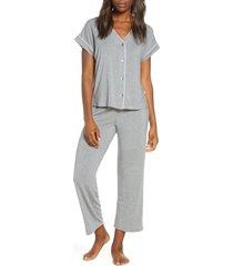women's ugg addi jersey pajamas, size x-large - grey