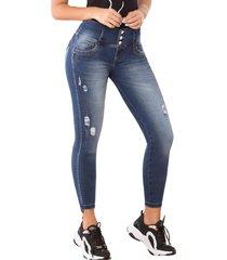 jeans jogger push up soledad azul medio tyt