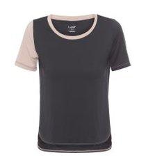 camiseta feminina família caja - preto