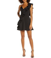 women's mac duggal one-side ruffle party dress