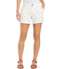 style & co lemon-print shorts, created for macy's