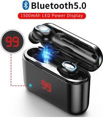 audífonos bluetooth inalámbricos manos libres caja de carga