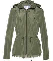 giacca a vento con pizzo (verde) - bpc selection