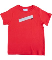 lanvin censored logo short sleeve t-shirt