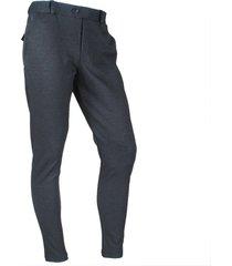 ferlucci heren pantalon stretch paulo geblokt - antraciet