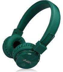 audífonos gamer, gaming estéreo hd inalámbricos audifonos bluetooth manos libres de los auriculares originales de nia x3 deportivos con la radio de la tarjeta fm del tf de la ayuda del micrófono (verde profundo)