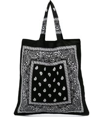 arizona love bandana print tote bag - black