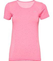 ua seamless melange ss t-shirts & tops short-sleeved rosa under armour