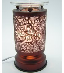 copper etched leaves touch lamp oil/tart warmer - use with scentsy wax