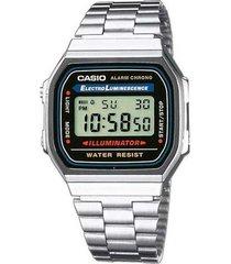 reloj a-168wa-1w casio negro