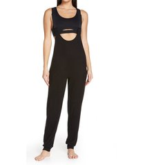 alo layback romper, size x-small in black at nordstrom