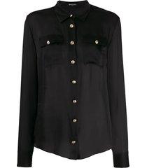 balmain button-down tailored blouse - black