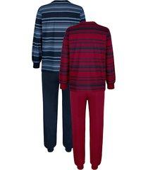 pyjamas babista bordeaux::marinblå