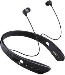 audífonos bluetooth, audifonos bluetooth manos libres  4.0 ecouteur auriculares estéreo de cuello para la corbata bm-170 deportes al aire libre con micrófono(negro)