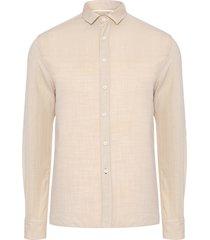 camisa masculina solid color - bege