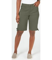 karen scott solid tie-cuff shorts, created for macy's