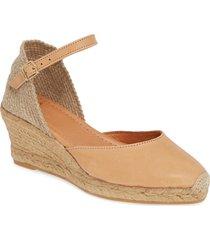 women's toni pons costa wedge sandal, size 9-9.5us - brown