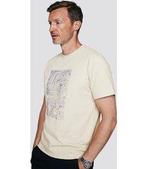 t-shirt i bomull med tryck - ljusgrå