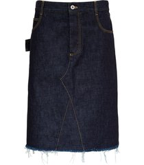 bottega veneta denim skirt with contrasting stitching