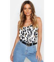 geweven luipaardprint hemdje, wit