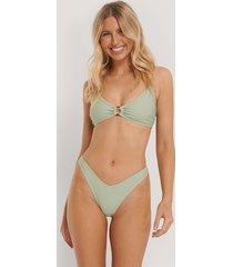 na-kd swimwear v-shape front bikini bottom - green