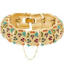 susan caplan vintage 1980s vintage d'orlan colourful bracelet - gold